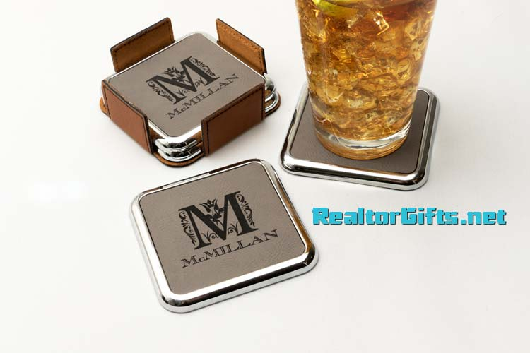 Monogram Coaster Set CS-M22