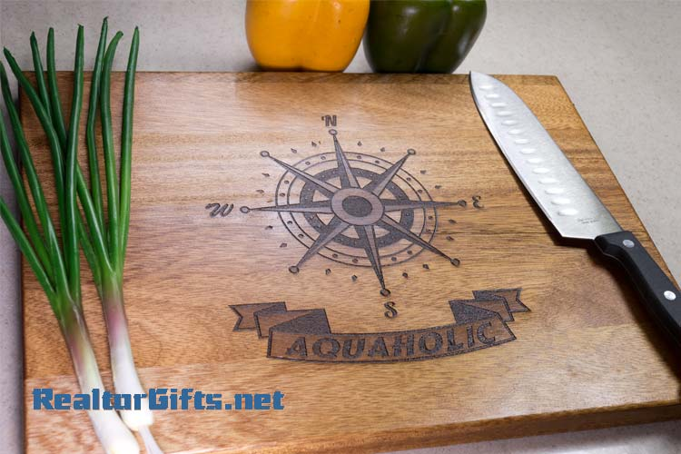 Nautical Compass Cutting Board N3