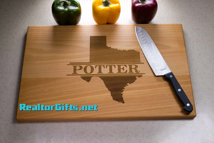 Texas Stars Cutting Board Texas4