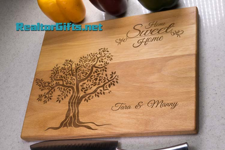 Home Sweet Home - Tree Cutting Board HSH4T4